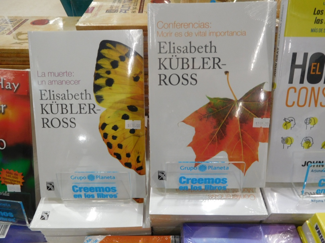 Elizabeth Kubler-Ross books at Grupo Planeta booth