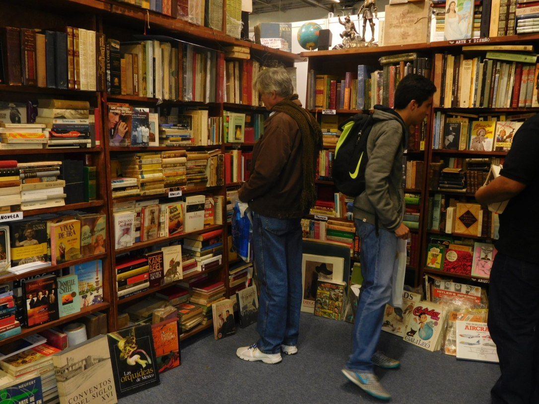 Antiquarian book store at GDL Book Fair 2016