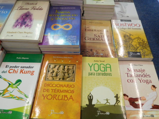 Yoga books from Prana (Lectorum), Mexico City