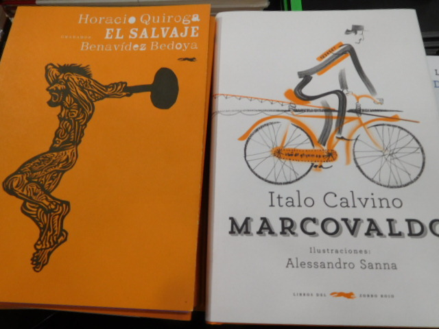 On the right, an Italian title translated into Spanish